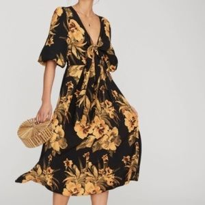 Faithfull the Brand Oliviera Dress Yellow Floral